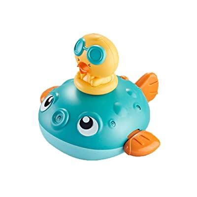 Baby Bath Toys, Fun Bath Time Tub Toys w/Organizer, Kids Wind Up Water Toys Floating Bathing Toy Water Spray Toy: Home & Kitchen