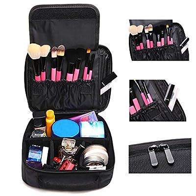 Makeup Travel Bag,Coofit Portable Travel Bags Case Cosmetic Bag Toiletry Bag Makeup Bag Case Black