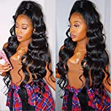 Thriving 250% 360 Lace Frontal Wig for Black Women Pre Plucked Hairline 360 Lace Wigs Glueless 360 Human Hair Wigs with Baby Hair(body wave wigs with 250% density-24inch)