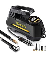 AstroAI Air Compressor Tire Inflator Portable Air Pump for Car Tires 12V DC Auto Tire Pump with Digital Pressure Gauge, 100PSI with Emergency LED Light for Car, Bicycle, Balloons and Other Inflatables