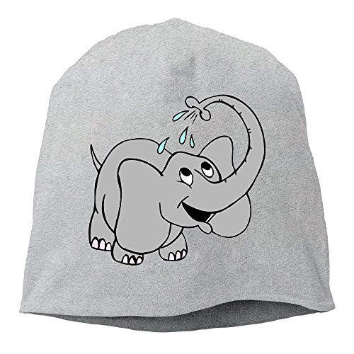 Fashion Solid Color Elephant Sprinkle Water Hedging Cap For Unisex Ash One Size