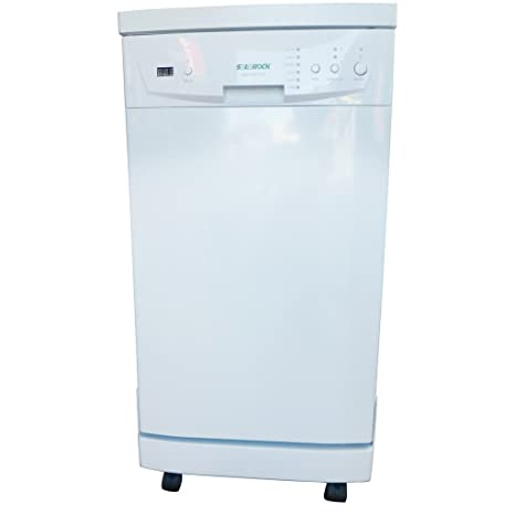 Charmant SoloRock 18u0026quot; Stainless Steel Portable Dishwasher   White
