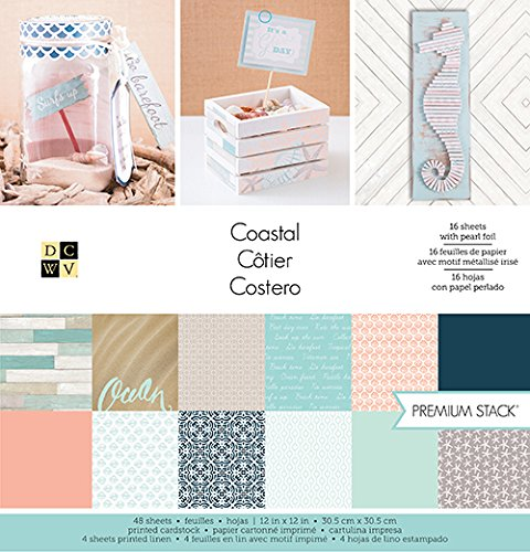 American Crafts 12 x 12 Inch Coastal 48 Sheets Die Cuts with a View Stacks