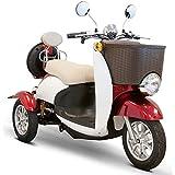E-Wheels - EW-11 Sport Euro Type Scooter - 3-Wheel - Red/White
