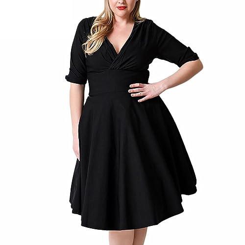 Otoño nuevas damas temperamento elegante cuello redondo mangas cortas Slim vestido de noche vestido ...