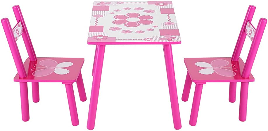 Juego de sillas de mesa para niñas, mesa para niños de 1 a 5 años, mesa