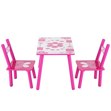 Table Chair Set for Girls,Flower Printed Pink Toddler 1-5 Years Amazon.com: