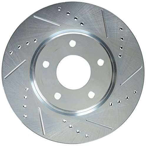 Power Stop JBR1129XPR Front Evolution Drilled & Slotted Rotor Pair (Slot Q45 Power)