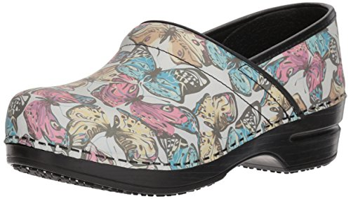 Sanita Women's Smart Step Pro. Mariposa Clog, Multi, 38 M EU (7-7.5 US) (Sanita Slip Clogs)