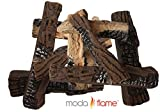 Moda Flame 10 Piece Ceramic Fireplace Wood Log Set