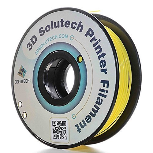 3D Solutech Real Yellow 3D Printer PLA Filament 1.75MM Filament, Dimensional Accuracy +/- 0.03 mm, 2.2 LBS (1.0KG) - 100% USA