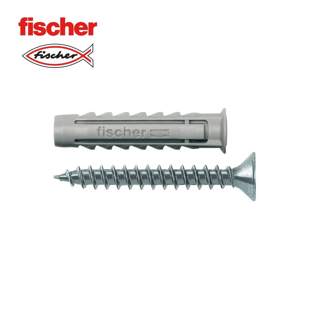 FISCHER 140101 – fischer Dübel SX- 8 mit Schraube, 50er-Box