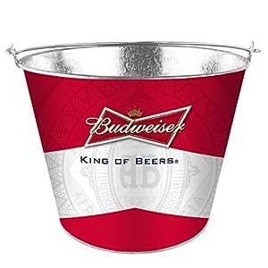 Boelter Brands Budweiser Metal Full Wrap Ice Bucket, 5-Quart