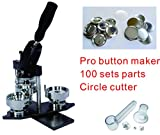 75mm 3'' Interchangeable Mould Button Maker Badge Material KIT …