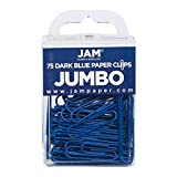 JAM PAPER Colorful Jumbo Paper Clips - Large 2 Inch