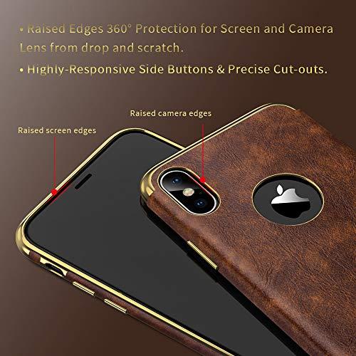 meet 51a0d 9292d SHOPUS | LOHASIC iPhone Xs Max Leather Case, Luxury Ultra Slim Soft ...