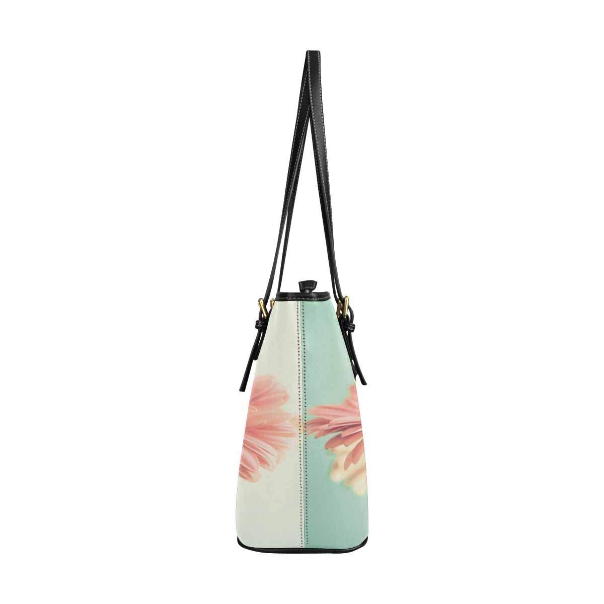 InterestPrint Top Handle Satchel HandBags Shoulder Bags Tote Bags Purse Two Pale Pink Daisy Flowers