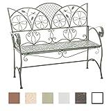 CLP-Panca da giardino in ferro forgiato RIEF, stile casa di campagna, in metallo, 51 x 106 cm, 6 colori a scelta
