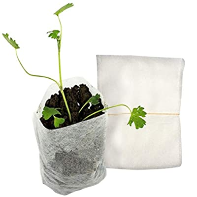 Anpay Non-Woven Nursery Bags, Plant Grow Bags, Fabric Seedling Bags, Biodegradable Eco-Friendly Planting Bags, 100pcs : Garden & Outdoor