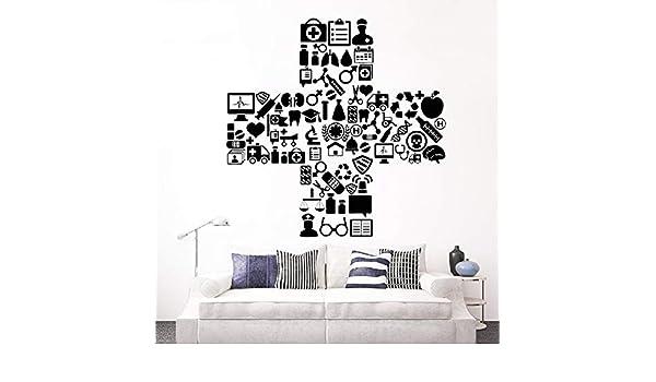 Modeganqingg Vinilo Adhesivo médico Hospital símbolo clínica ...