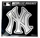 "Stockdale New York Yankees 6"" Metallic MAGNET Silver Style Vinyl Die Cut Auto Home Baseball"
