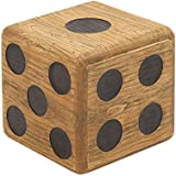 Deco 79 59205 Wood Teak Dice Stool, 16 x 16