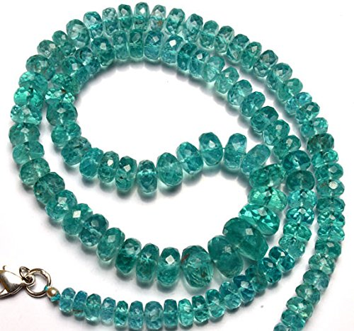 JP_Beads 1 Strand Natural Apatite Big 5 to 10MM Facet Rondelle Beads 17
