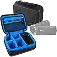 Protective EVA Portable Case (in Blue) for Sony HDR-CX330, HDR-CX405, HDR-CX625B, HDR-MV1B, HDR-PJ240, HDR-PJ275, HDR-PJ330, HDR-PJ340, HDR-PJ410, HDR-PJ410, HDR-PJ540, HDR-PJ620, HDR-PJ810