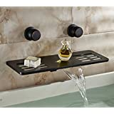Rozin Multifunction Waterfall Shelf Spout Bathtub Faucet Wall Mount Mixer Tap Oil Rubbed Bronze