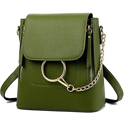 BABORRY Women Crossbody Chain Backpack Purse Small Pu Designer Leather Shoulder Bag for women Ladies Grey Handbags - Designer Chloe Handbags