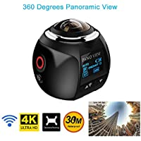 360 Degree WIFI Action Camera 4K 30M Waterproof 220 Degree Fish Eye Lens 16MP Cam