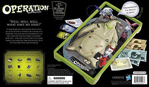 Christmas Operation Game.Operation Nightmare Before Christmas Board Game Themed Operation Game Where Players Operate On Oogie Boogie Operation Game Based On Tim Burton S