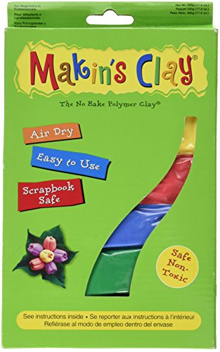 Makin's Clay Air Dry, 500-Gram, Multicolor