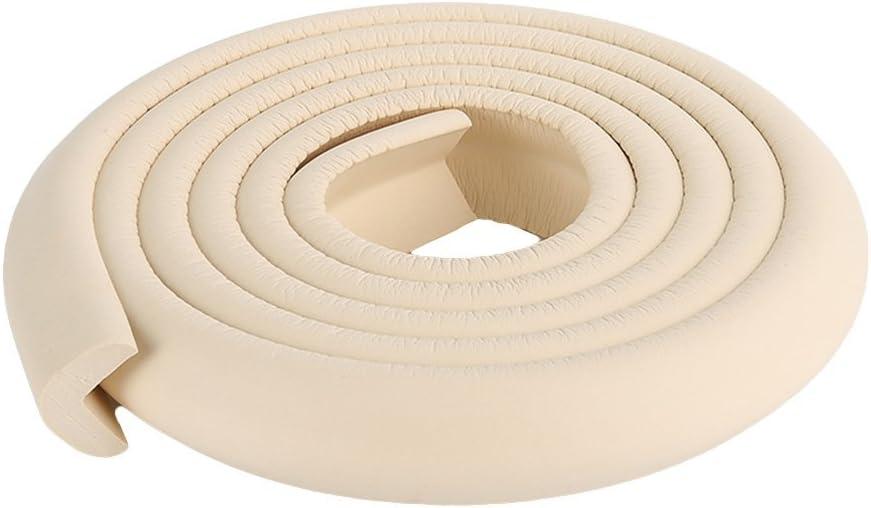 cuigu Baby sicherheitsecke bordes Protecci/ón forma de L suave borde goma mesa para ni/ños 2/m multicolor beige Talla:2m