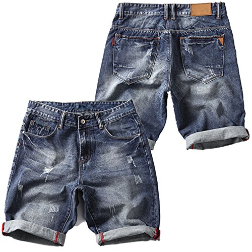 ZFADDS Short Jeans for Men Summer Denim Shorts Men Mid Waist Casual Shorts Men's Shorts 229 30