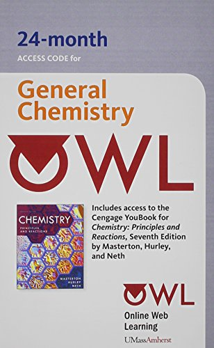 (OWL 24-Months Printed Access Card for Masterton/Hurley's Chemistry: Principles and Reactions,)