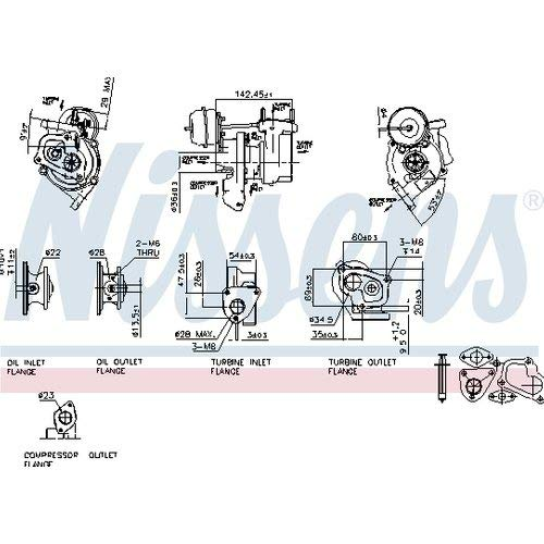 Nisss 93156 Turbo Charger: