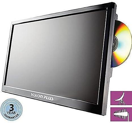 Vision Plus Televisor LED Digital portátil con Built-in DVD y HD DVB-S2 Receptor de satélite, Color Negro, 18,5 Pulgadas: Amazon.es: Deportes y aire libre
