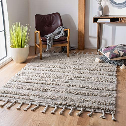 Safavieh Casablanca Shag Collection CSB450H Handmade Wool Moroccan Area Rug
