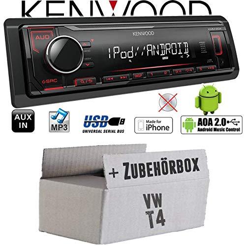 iPhone MP3 JUST SOUND best choice for caraudio USB Android Autoradio Radio Kenwood KMM-204 Einbauset f/ür VW Bus T4 Einbauzubeh/ör