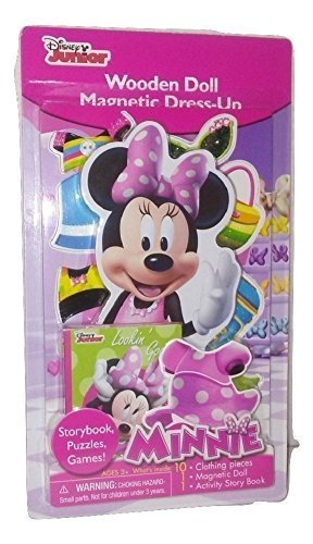 Minnie Wooden Magnetic Dress-Up Play (Halloween Coloring Pages Cut Outs)