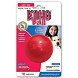 KONG Ball with Hole Dog Toy, Medium/Large, Red