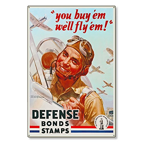 WW2 Fighter Pilot WWII Defense Bonds and Stamps