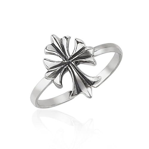 Amazoncom 925 Sterling Silver Fleur De Lis Symbol Wrap Around Open