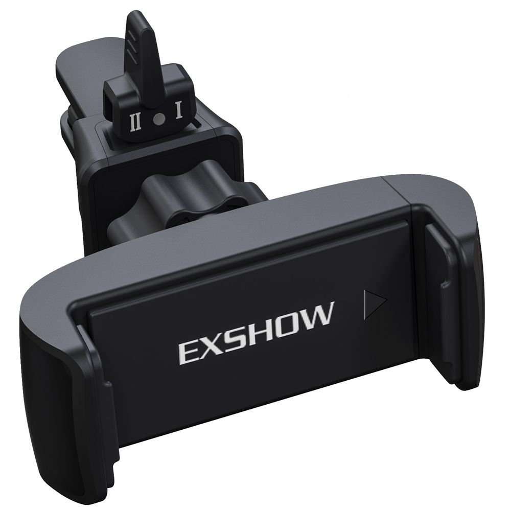 EXSHOW Universal 360 Rotate Car Air Vent Phone Cradle Mount for all 3.5-6 inches Cellphones Including but not Limited iPhone SE/5/6s/7/8/8plus/X,Samsung series and Most Smartphones(Black)