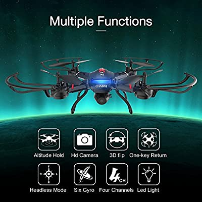 Holy Stone F181W Wifi FPV Drone with 720P Wide-Angle HD Camera Live Video RC Quadcopter with Altitude Hold, Gravity Sensor Function, RTF and Easy to Fly for Beginner, Compatible with VR Headset by Holy Stone