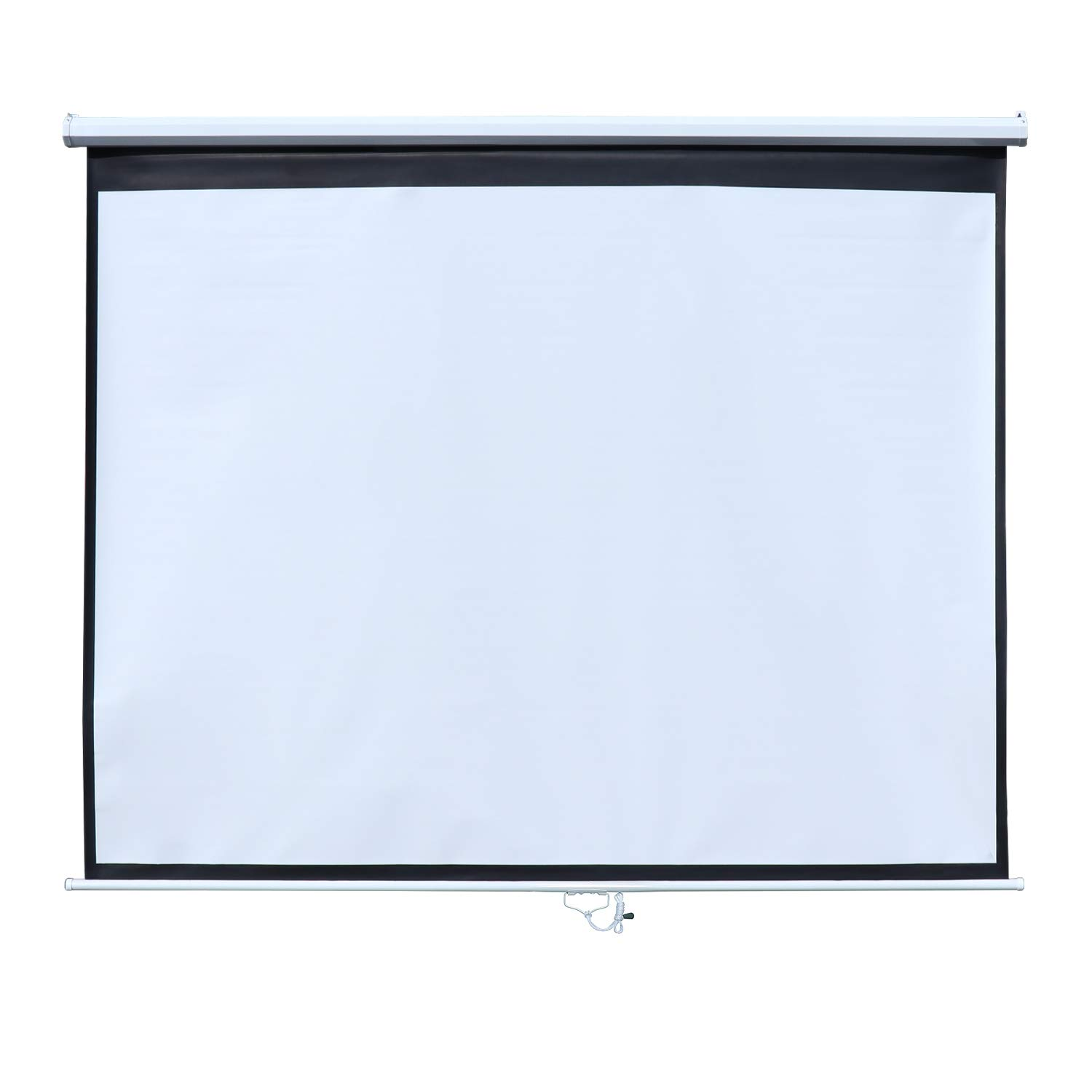 ONE-YEAR WARRANTY Widescreen 3D 8K HD for Home Theater Indoor Outdoor White Anti-Crease Waterproof 100 inch 16:9 Wall-Mounted Projector Screen Manual Pull Down Projection Screen Projector Screen