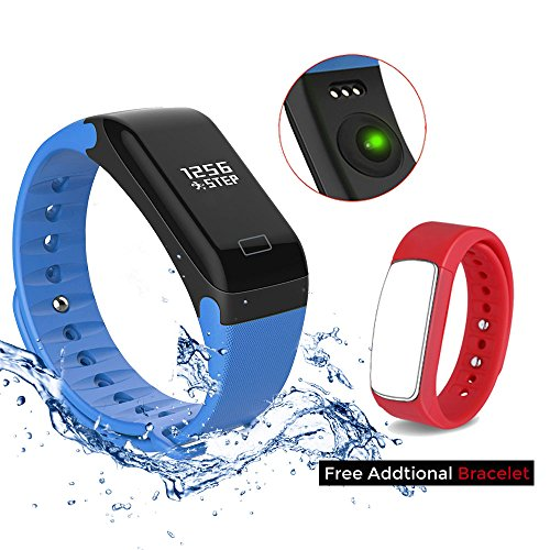 Fitness Tracker for Android and Apple iPhones - Thrillsales Bracelet Activity Trackers with Heart Rate Monitor, Sleep Monitor Tracker, Pedometer with Step Tracker,Calorie Counter and Push Notification