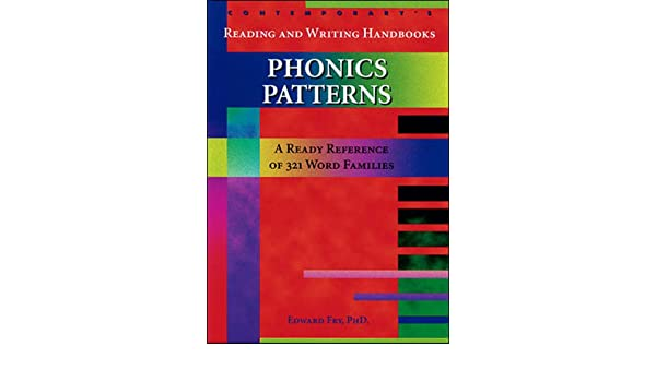 Phonic Patterns: A Ready Reference of 321 Word Families: Edward ...