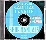 1937 1938 CADILLAC & LaSALLE FACTORY REPAIR SHOP & SERVICE MANUALCD INCLUDES models 60, 60, 60S, 65, 70, 75, 85, 90, and La Salle 50, and V8, V12, and V16 engines. 37 38